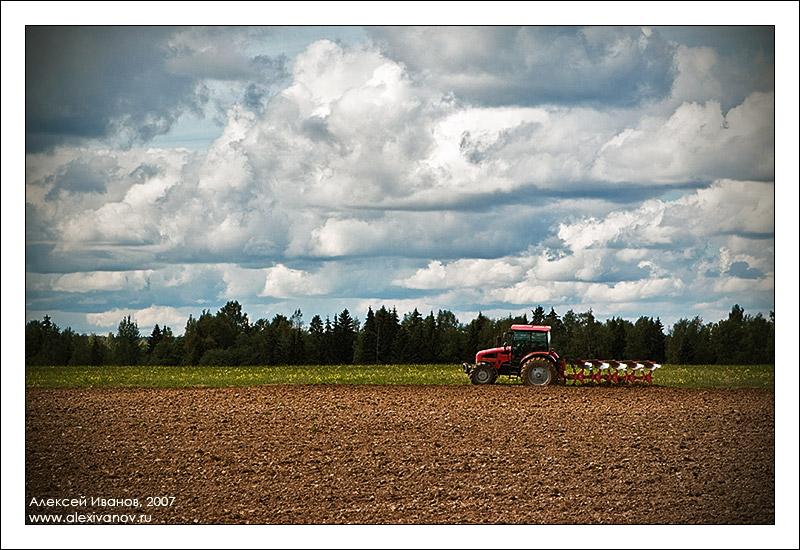 Про красный трактор и облака