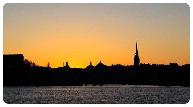 Стокгольм. Закат