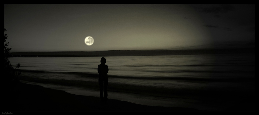 Луна,игра вооброжения.