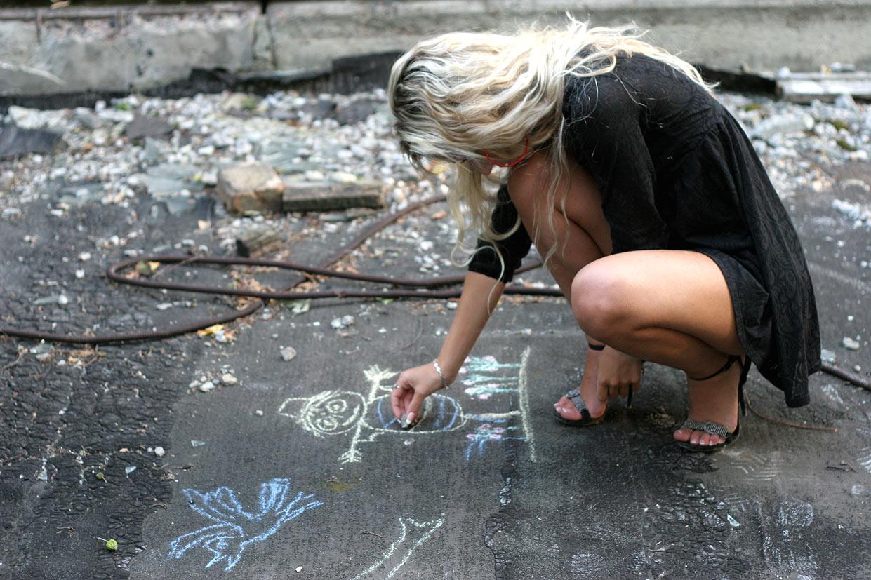 Граффити юной художницы