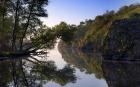 скальные берега утреннего Днепра