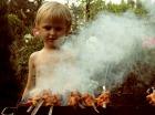 barbecue and smoke
