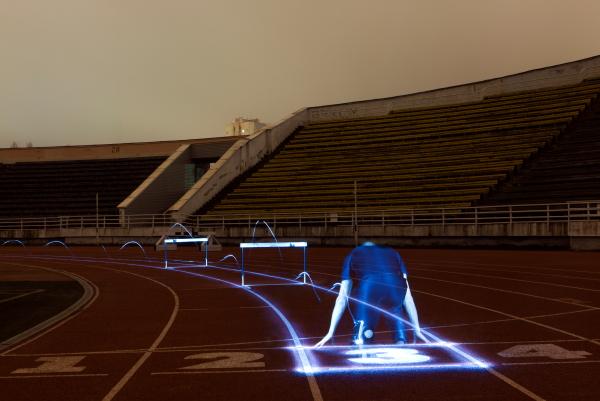 стадион ночь.