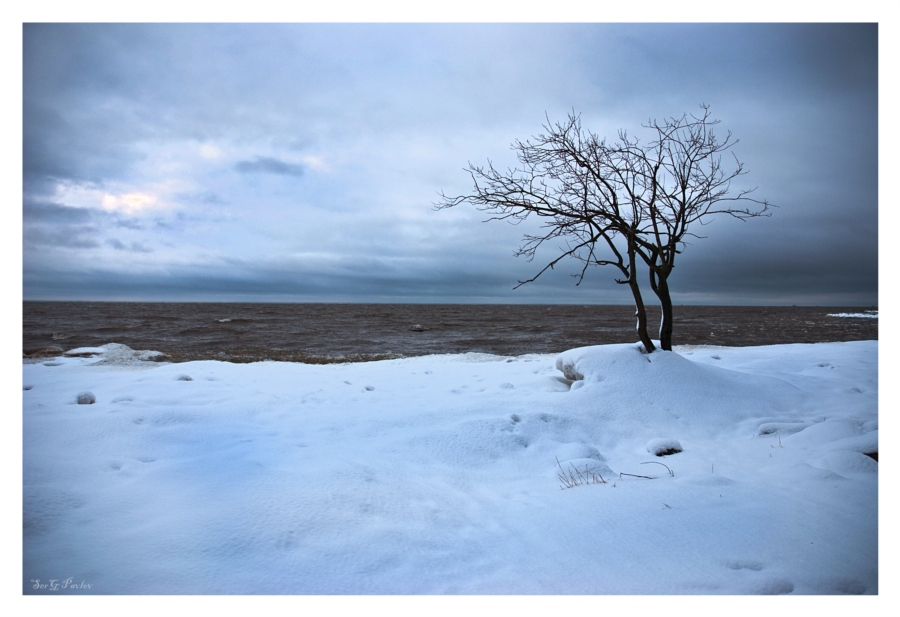 Зимний лучащий свет
