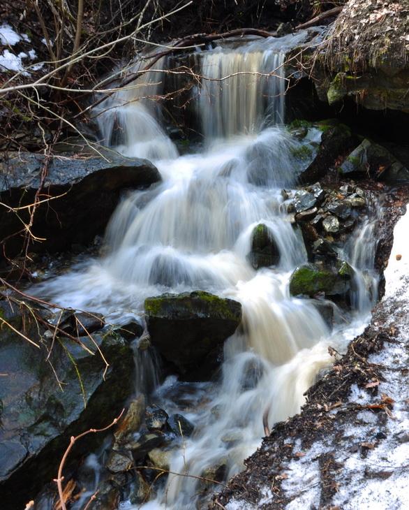 весенний водопад